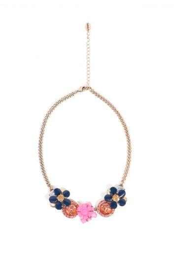 Женское смешанное ожерелье с подвеской - Thumbnail