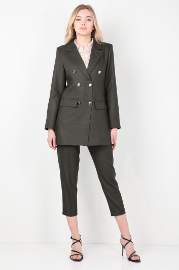 MARKAPIA WOMAN - Women's Khaki Blazer Suit (1)