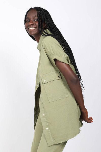 MARKAPIA WOMAN - Women'sKhakiPocket Basic Jacket (1)