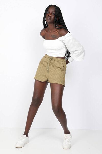 MARKAPIA WOMAN - Women'sKhakiQuilted Shorts (1)