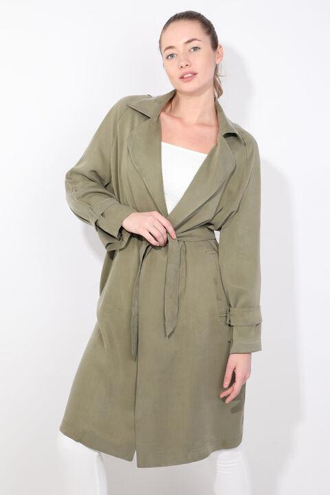 معطف الخندق كاكي راجلان للمرأة
