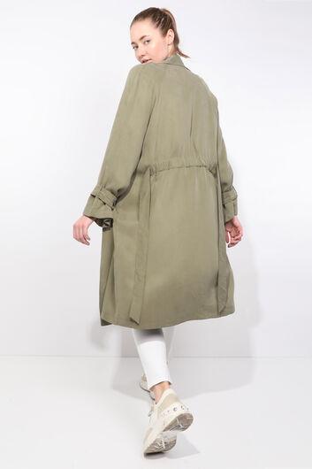 معطف الخندق كاكي راجلان للمرأة - Thumbnail