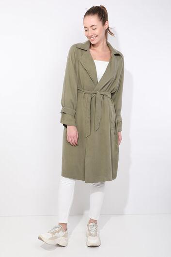 MARKAPIA WOMAN - Women's Khaki Raglan Sleeve Trench Coat (1)