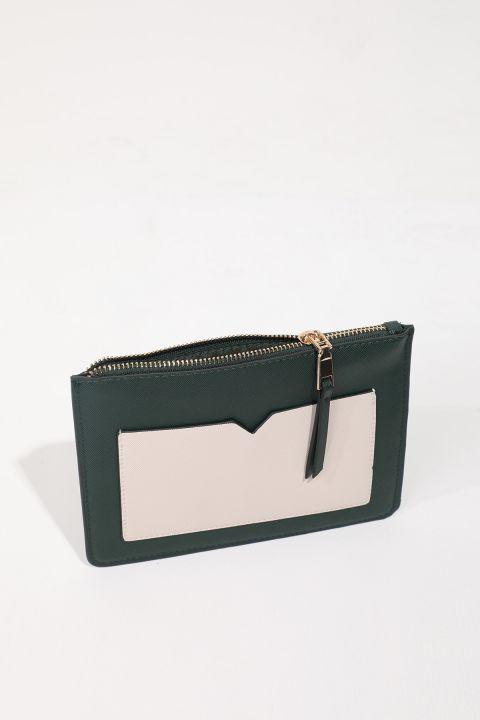 Women's Khaki Pocket Mini Hand Bag