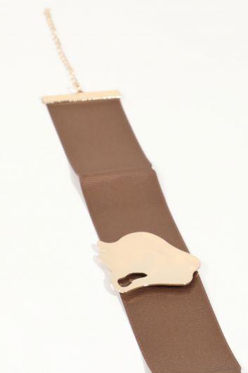 MARKAPIA WOMAN - قلادة حزام الحجر الكاكي للمرأة (1)