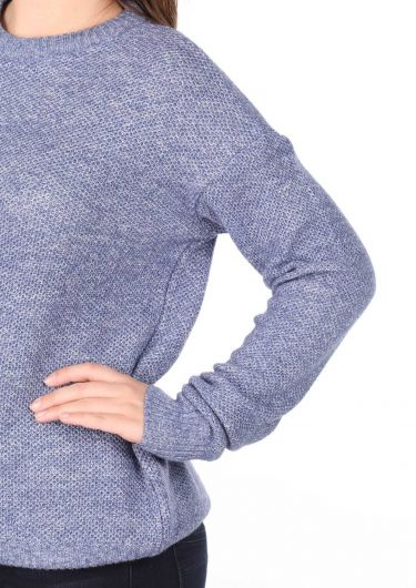 Markapia Crew Neck Women's Knitwear Sweater - Thumbnail
