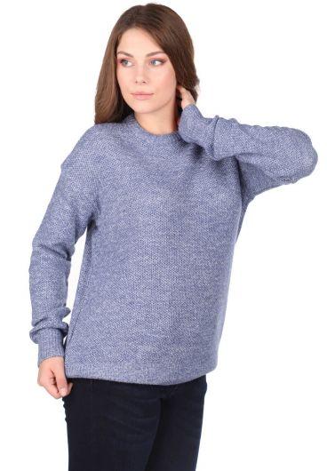 MARKAPIA WOMAN - Женский трикотажный свитер Markapia с круглым вырезом (1)