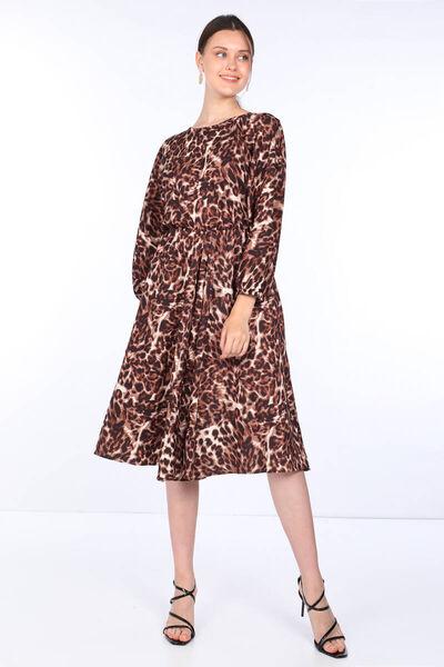 MARKAPIA WOMAN - Women's Leopard Pattern Belted Dress (1)