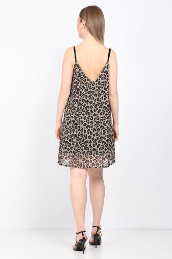 فستان نسائي بحزام ليوبارد - Thumbnail