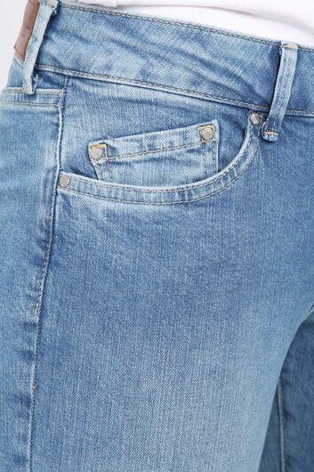 Women's Light Blue Skinny Leg Jeans - Thumbnail
