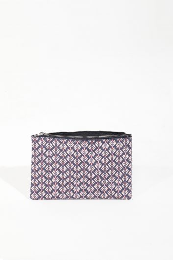 MARKAPIA WOMAN - حقيبة يد نسائية منقوشة ليلك (1)