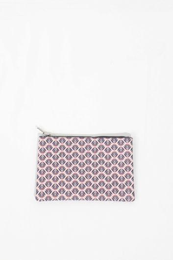 Женская сумка с рисунком сиреневого цвета - Thumbnail