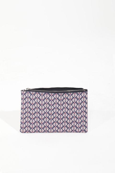 Женская сумка с рисунком сиреневого цвета