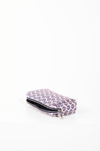 MARKAPIA WOMAN - Lilac Patterned Makeup Bag for Women (1)
