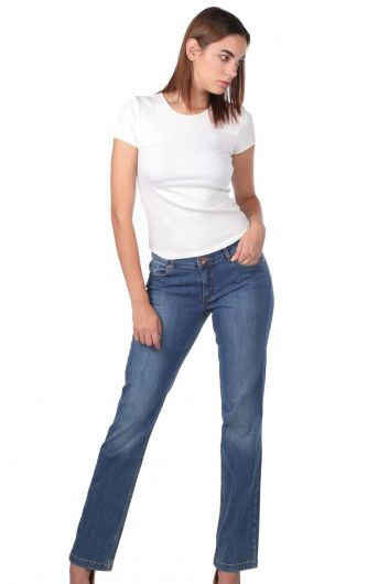 Women's Long Jean Trousers - Thumbnail