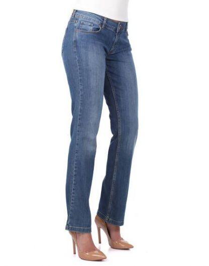 Banny Jeans - Женские длинные батальные джинсовые брюки (1)