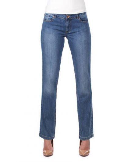 Women's Long Battal Jean Trousers - Thumbnail