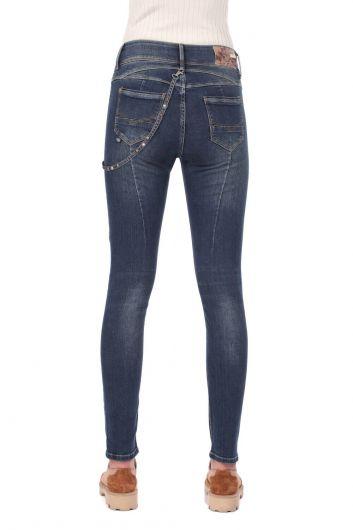 بنطلون جينز نسائي منخفض الخصر - Thumbnail
