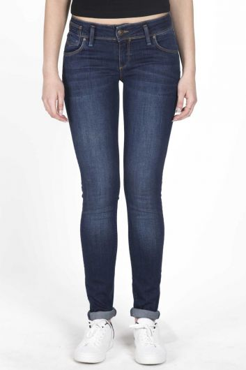 Women's Low Rise Slim Fit Jean Trousers - Thumbnail