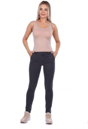 بنطلون جينز نسائي متوسط الخصر - Thumbnail
