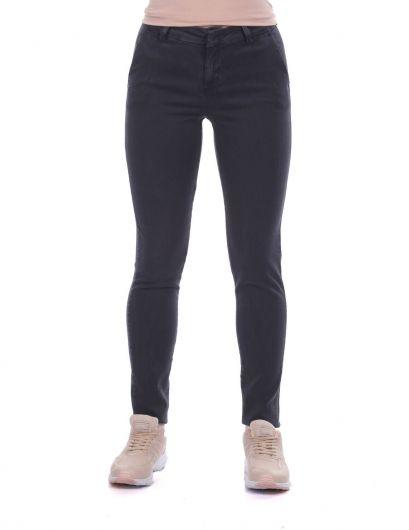 Женские джинсовые брюки со средней талией - Thumbnail