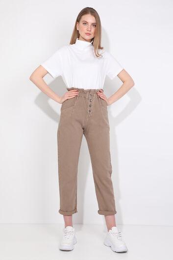 بنطلون جينز نسائي من Mink Paperbag - Thumbnail