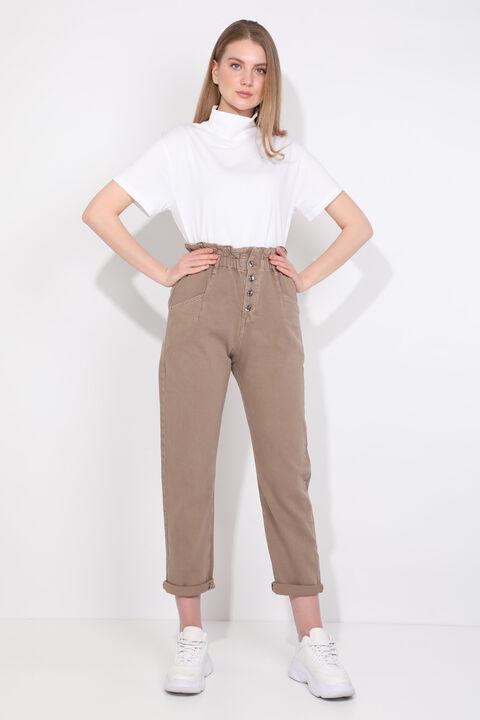 بنطلون جينز نسائي من Mink Paperbag