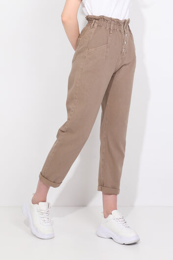 BLUE WHITE - Женские джинсовые брюки из норки (1)