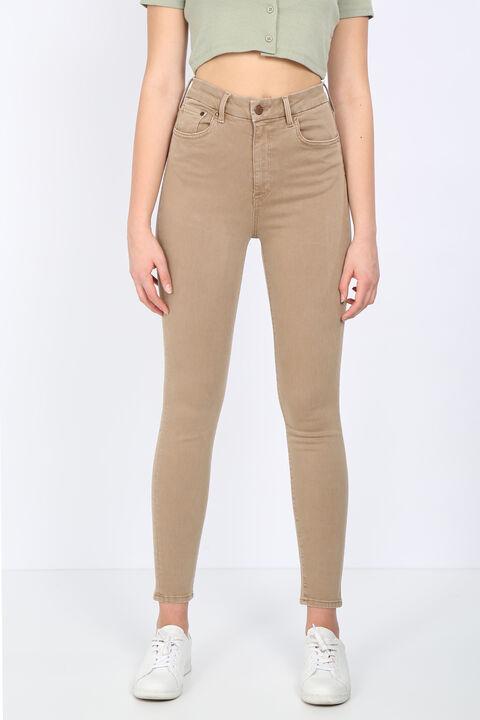 Женские прямые узкие брюки из норки