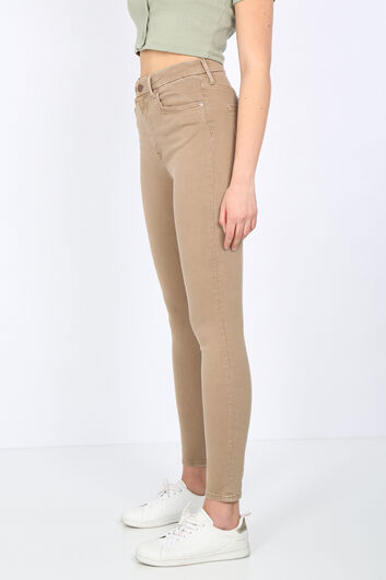 BLUE WHITE - Women's Mink Straight Skinny Trousers (1)