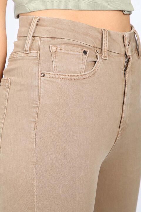 Women's Mink Straight Skinny Trousers