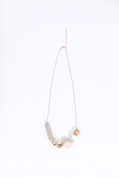 Women's Mixed Stone Chain Necklace