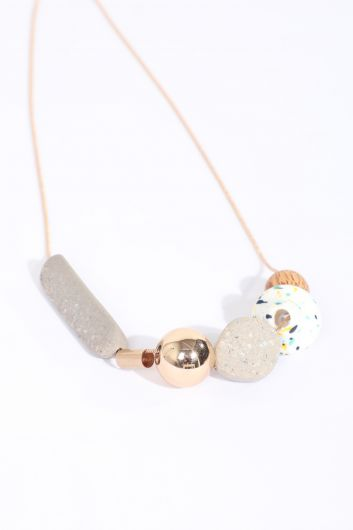 MARKAPIA WOMAN - Women's Mixed Stone Chain Necklace (1)