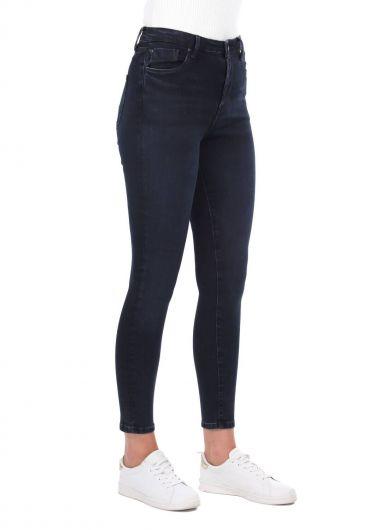 MARKAPIA WOMAN - Women Navy Blue Skınny Fit Jean Trousers (1)