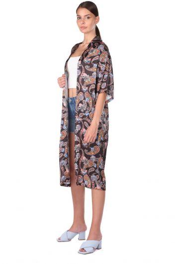 MARKAPIA WOMAN - Женская куртка-кимоно с рисунком Markapıa (1)