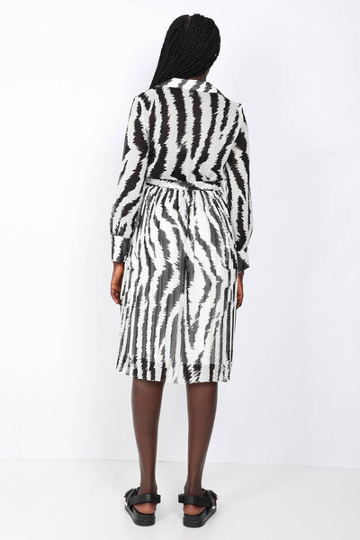 MARKAPIA WOMAN - Women's PatternedPleatedChiffon Dress (1)