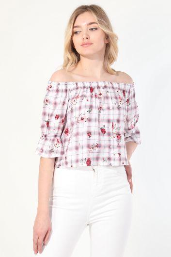 MARKAPIA WOMAN - Женская блузка без бретелек с рисунком (1)