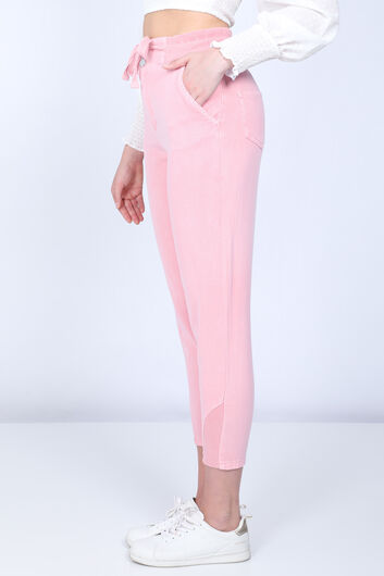 BLUE WHITE - Pink Mom Jeans For Women (1)
