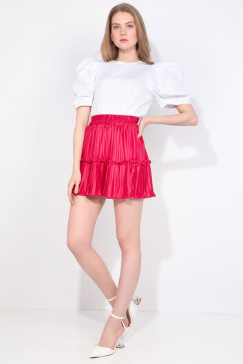 MARKAPIA WOMAN - Women's Pink Pleated Mini Skirt (1)