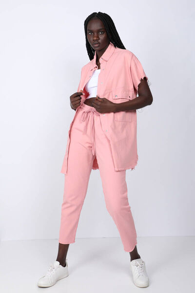 MARKAPIA WOMAN - Women's Pink Pocket Basic Jacket (1)