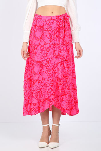MARKAPIA WOMAN - Women's Pink Ruffle Wrap Wrap Skirt (1)