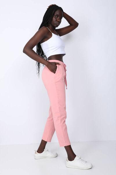 MARKAPIA WOMAN - Женские розовые брюки с кулиской на талии (1)