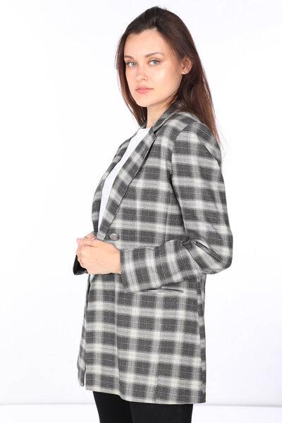 MARKAPIA WOMAN - Women's Plaid Blazer Jacket (1)