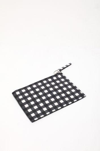 MARKAPIA WOMAN - Женская ручная сумка в мелкую клетку с рисунком (1)