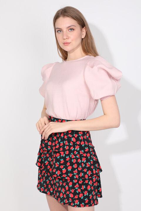 Women's Powder Balloon Sleeve Blouse