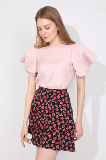 MARKAPIA WOMAN - Женская пудровая блузка с воздушными рукавами (1)