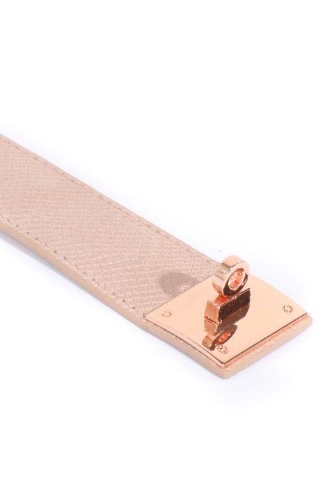Женский браслет с пудровым ремнем