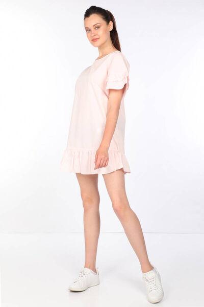 MARKAPIA WOMAN - Женское пудрово-розовое платье с оборками (1)