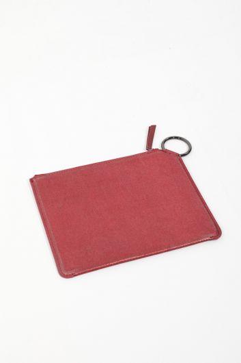 MARKAPIA WOMAN - حقيبة يد نسائية حمراء لامعة (1)