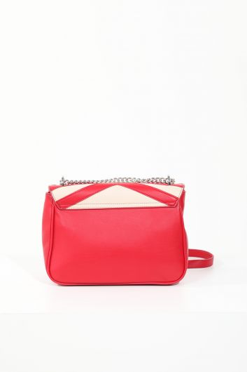 MARKAPIA WOMAN - Women's Red Leather Clip Crossbody Shoulder Bag (1)